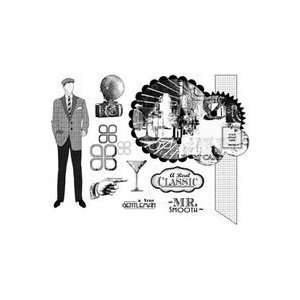 Suzanne Carillo Cling Rubber Stamp Set gentleman