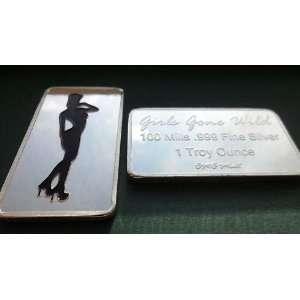 100 Mill .999 Fine Silver Girls Gone Wild #20 Art Bar *KromeProducts