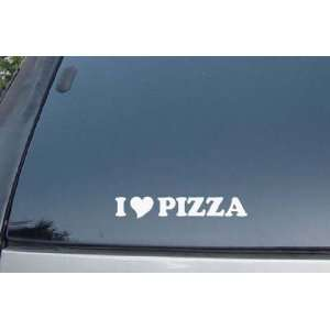 Love Pizza Vinyl Decal Stickers