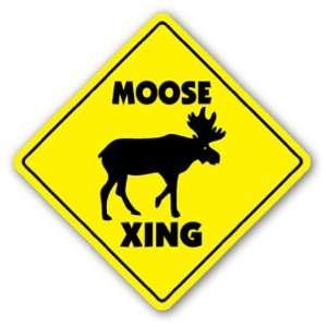 MOOSE CROSSING  Sign  xing hunter hunting lodge signs