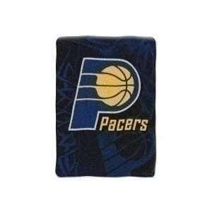 Indiana Pacers Large Plush Fleece Raschel Blanket 60 x 80