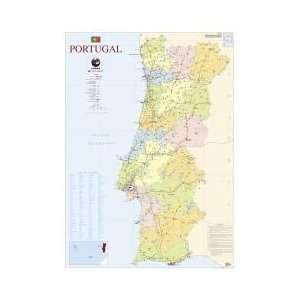 Mapa de Portugal   2 Faces (111,5 x 80,5 cm)   Folha Plastificada
