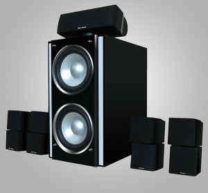 EPIC CUBE SURROUND SOUND HOME THEATER SYSTEM 1100 WATTS