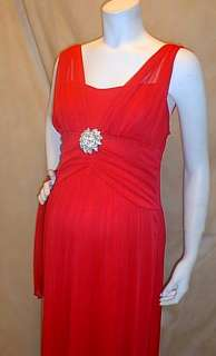 Maternity Dress on New Long Formal Red Roman Maternity Dress Large Wedding