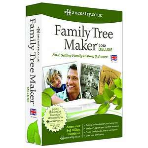 FAMILY TREE MAKER 2012 DELUXE VERSION   NEW