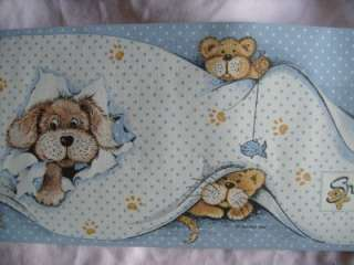 SNATCH THE DOG SUE HALL RARE WALLPAPER BORDERS BN 10M