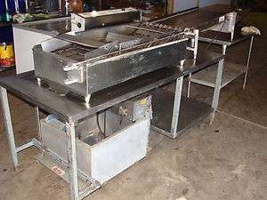 BELSHAW  DONUT ROBOT MARK X DONUT FRYING CONVEYOR FRYER WITH TABLE
