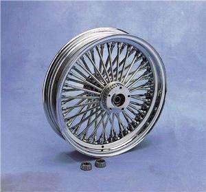 Drag Specialties 17x3.5in Fat Daddy 50 Spoke Front Wheel, Dual Disc (w