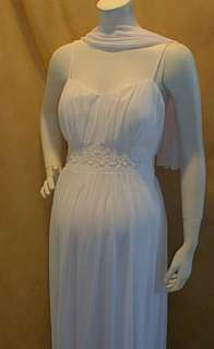 New Long White Maternity Wedding Dress XL Bridal Trim