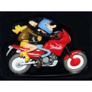 honda 650 dominator bike and figure 1.18ish scale hand painted model