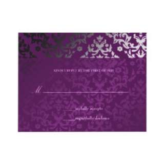 311 Dazzling Damask Extraordinary Purple Custom Invitations from
