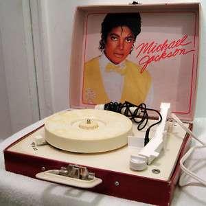 MICHAEL JACKSON RECORD PORTABLE PLAYER 1984 ~RARE