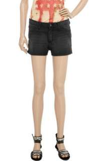 IRO Faded stretch denim shorts   85% Off Now at THE OUTNET