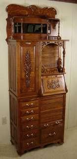Antique Oak Harvard Co. Dental Cabinet   Model #44X