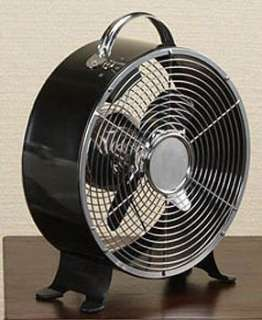 NEW 9 Deco Breeze Decorative Metal Box Fan   Black