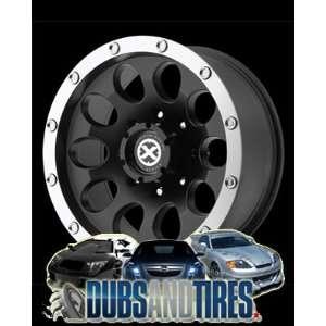 16 Inch 16x8 AMERICAN RACING ATX wheels SLOT Satin Black