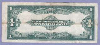 VF 1923 SERIES ONE DOLLAR BILL SILVER CERTIFICATE UNITED STATES NOTE $
