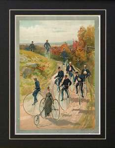Vintage Penny Farthing High Wheel Bicycle Club Print