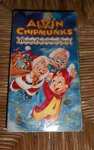 Alvin and the Chipmunks Alvins Christmas Carol Animated VHS 1980s