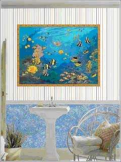 Tropical Fish AQUARIUM 40x50 inches Wallpaper Wall Decor Mural