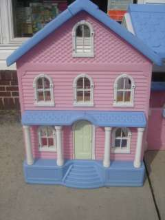 Doll House & Childs Play House Pink & White HTF My Size Barbie