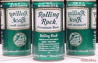 ROLLING ROCK BEER C/S OLD VINTAGE CAN LATROBE BREWERY CO 15605