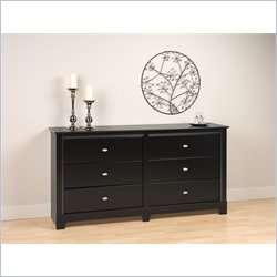 Kallisto 6 Drawer Double Black Finish Dresser 772398522012