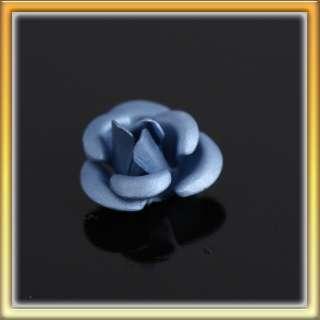 20PCS Light Blue Rose Flower 3D Stainless Steel Nail Art Decal DIY