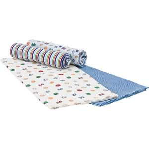 Gerber Baby Boy Flannel Receiving Blankets, 4 Pack Bedding & Decor