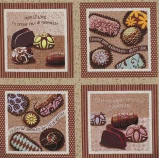 Love Chocolate Candy Sayings 4.5 quilt block squares