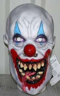 Demon Clown Adult Mask  this Full Over the Head Latex Evil Clown Mask