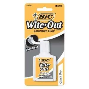 BIC Wite Out Correction Fluid BICWOFQDP1WHI: Office