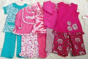 Fisher Price Baby Girl Toddler Flowers Butterflys Outfit Shirt Pant