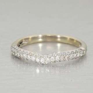14k White Gold Diamond Pave Band Ring