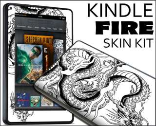 Fire Skin Vinyl Decal eBook Netbook Tablet #064 Dragon Tattoo