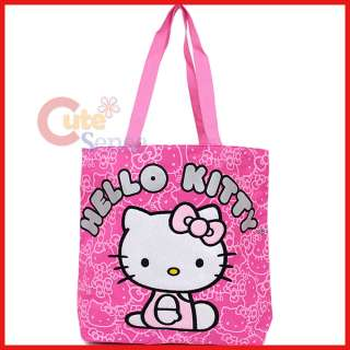 Sanrio Hello Kitty Tote Bag Shoulder/Diaper  Pink Glittering Face