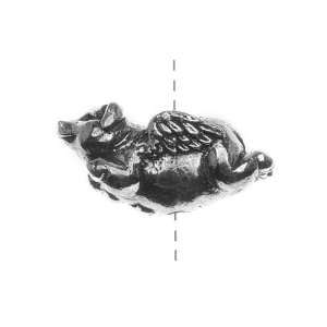 Green Girl Studios Pewter Flying Pig Focal Bead 26.5mm (1