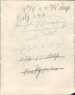 Pershing with Detroit Mayor John Lodge. Dated January 31, 1928