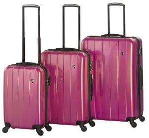 Heys USA PRISMA 4WD Spinner Luggage Set PINK GLITTER 806126032006