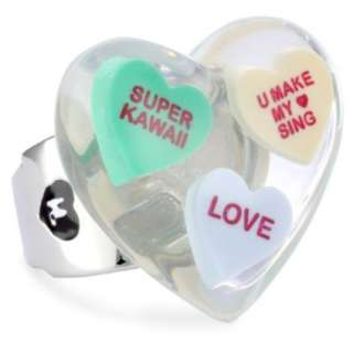 Harajuku Lovers Candy Girls Multi Candy Heart Stretch Ring