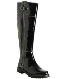 KORS Michael Kors black patent leather Breck zip boots   up