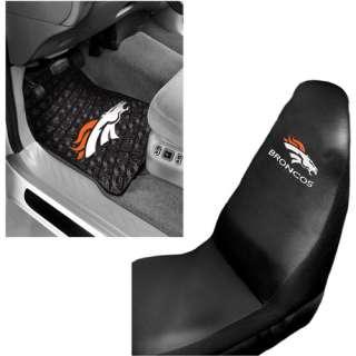 Floor Mats and Denver Broncos Car Seat Cover Value Bundle Automotive