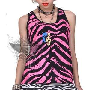 SC162 Black Punk Rock Skeleton Tank Top Gothic Fashion