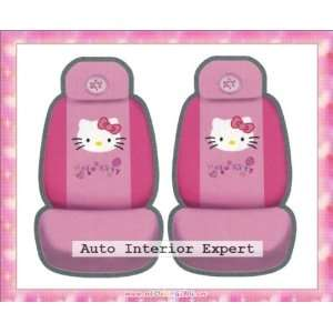 HELLO KITTY SMILING UNIVERSAL CAR SEAT COVER SET PINK H26 Automotive