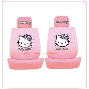 HELLO KITTY CRYSTAL UNIVERSAL CAR SEAT COVER SET PINK H04 Automotive