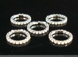 Lots 60Pcs 1Row Clear Crystal Rhinestone Toe Rings