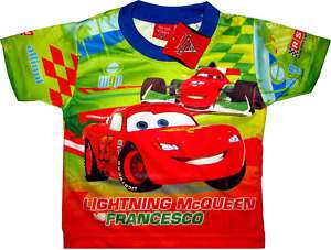 DISNEY CARS Kids Boys Toys Clothes T Shirt Sz 3 Age 2 3