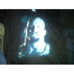 WWF WWE Rattlesnake Stonecold Steve Austin Large Black T Shirt TNA