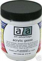 PACK 8 OZ ACRYLIC GESSO ~ WHITE, BLACK & GRAY OR ??