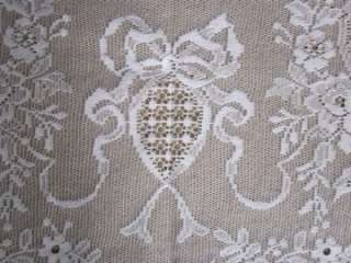 Stunning Cotton Victorian design c1895 white LACE CURTAIN PANEL